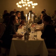Perhe ravintolassa