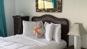 Individually decorated, individually furnished, linens, alarm clocks