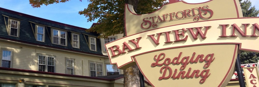 Exterior detail, Stafford's Bay View Inn