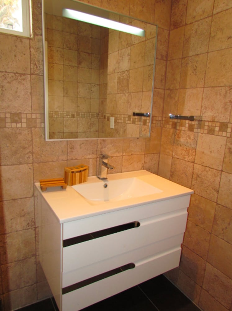 Bathroom, HBK Villa Rentals at Jolly Harbour