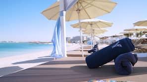 Private beach, free beach shuttle