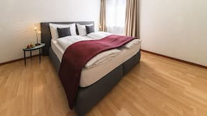 Premium bedding, down duvet, Select Comfort beds, individually decorated