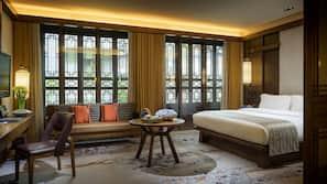 Hypo-allergenic bedding, down duvets, minibar, in-room safe