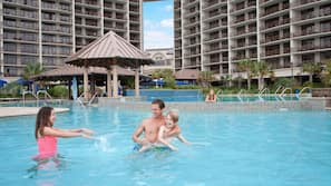 Indoor pool, 5 outdoor pools, cabanas (surcharge), pool umbrellas