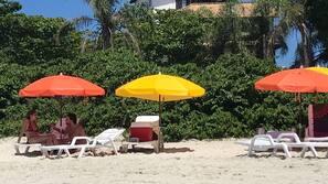 On the beach, free beach cabanas, beach shuttle, sun-loungers