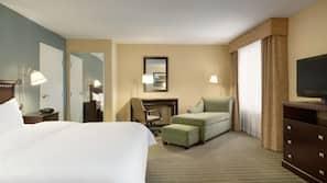 Down comforters, blackout drapes, iron/ironing board, free WiFi