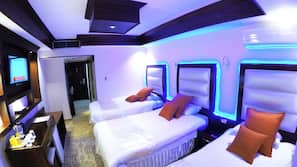 Pillowtop beds, minibar, in-room safe, desk