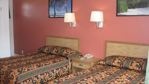 Select Comfort beds, individually furnished, desk, iron/ironing board