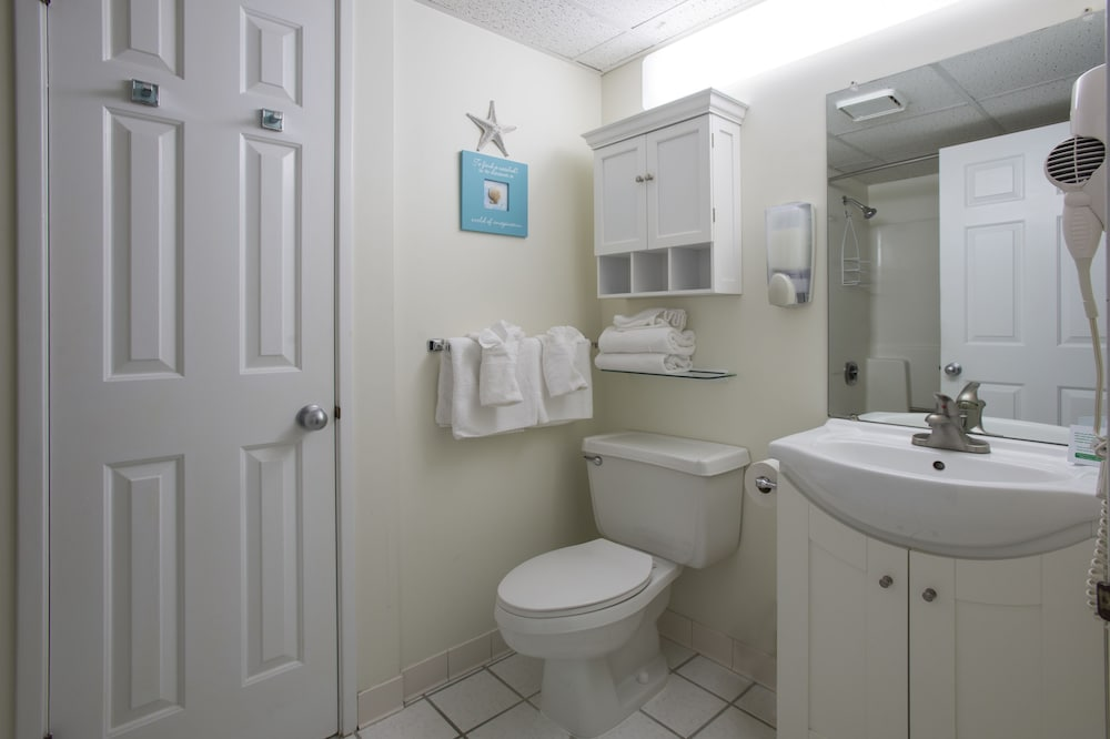 Bathroom, Biscayne Suites