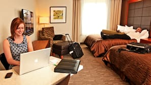 Pillowtop beds, in-room safe, desk, laptop workspace