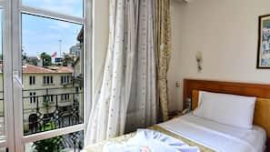 Egyptian cotton sheets, premium bedding, memory foam beds, free minibar