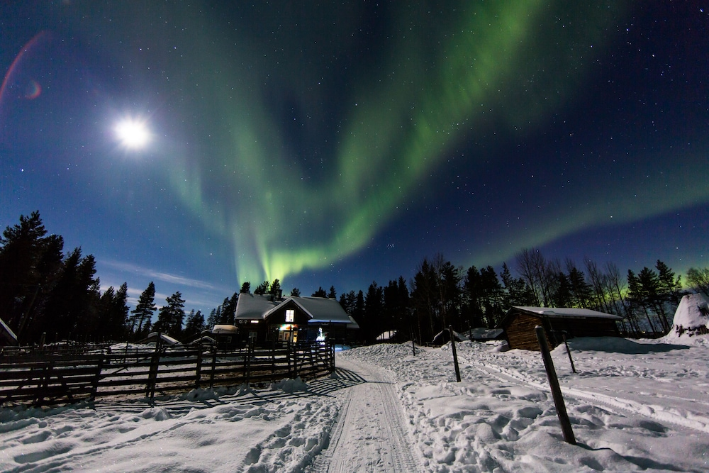 View from Property, Levi Northern Lights Huts