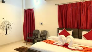 Egyptian cotton sheets, memory-foam beds, desk, rollaway beds
