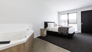 Premium bedding, pillow top beds, desk, soundproofing