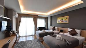 ผ้าม่านกันแสง, เตียงเสริม/เปล, Wi-Fi ฟรี, ผ้าปูที่นอน