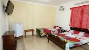 Minibar, iron/ironing board, bed sheets