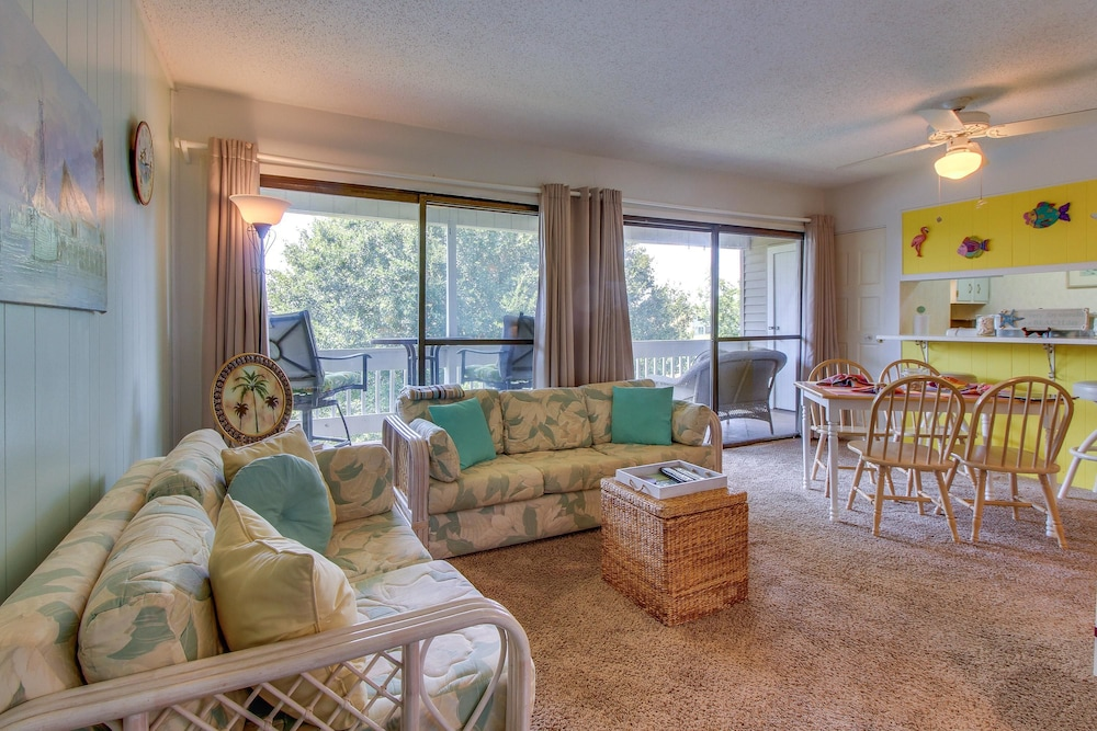 Living Area, Gulf Terrace Condominiums