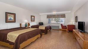 Individually furnished, blackout drapes, free WiFi, bed sheets