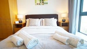 2 Schlafzimmer, Bettwäsche aus ägyptischer Baumwolle