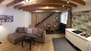 Een strijkplank/strijkijzer, gratis wifi