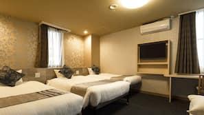 20 間臥室、書桌、窗簾、免費 Wi-Fi