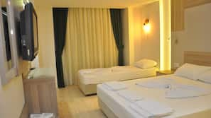 Minibar, blackout drapes, soundproofing, bed sheets
