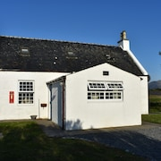 Old PO House, South Uist. Mountains, Machair, Sea