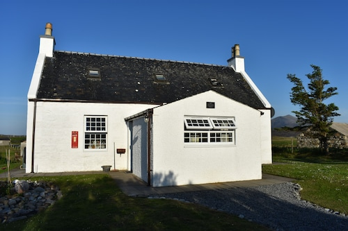 Ancienne Maison PO, South Uist. Montagnes, Machair, Mer