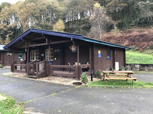 Self Catering Holiday Lodge set in 6 Acres of Wooded Hillside in South Wales