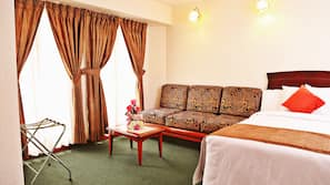 In-room safe, blackout curtains, iron/ironing board