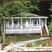 Bridgeview Cottage-charming Lake Hide-away on Private Island; Dock and Boathouse