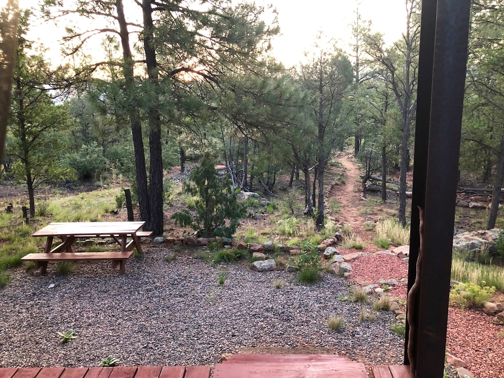 Terrace/Patio, Modern Cabin In The Woods - Family And Pets Friendly
