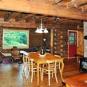 Spacious Log Cabin on 11+ Acres of Private Forest Along The Appalachian Trail