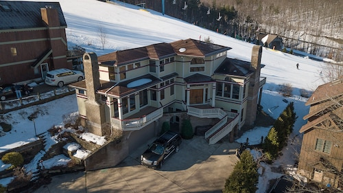 Check Expedia for Availability of On Sunset Ski Hill! Luxury Holimont Mountain Mansion Sleeps 18