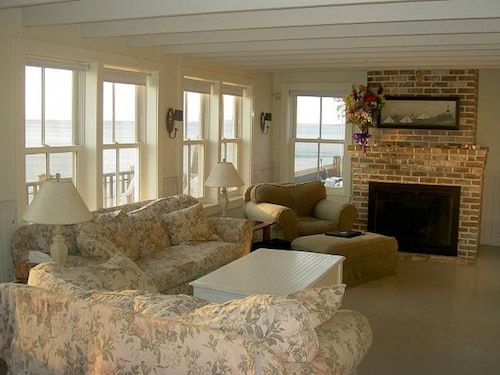 Nantucket Style Oceanfront Home Directly on a Sandy Beach