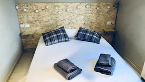 1 bedroom, iron/ironing board, bed sheets