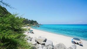 Spiaggia privata, ombrelloni