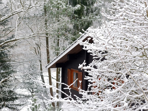 Rustic log Cabin Lodge in the Wooded Taunus Region Near Frankfurt. Dogs Welcome