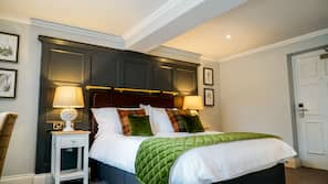 Premium bedding, pillow-top beds, free minibar items, desk