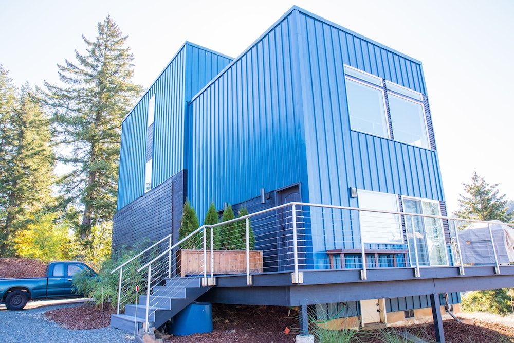 Exterior, Social Distance at Exquisite Shipping Container-style Cottage