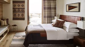 Premium bedding, pillowtop beds, free minibar items, in-room safe