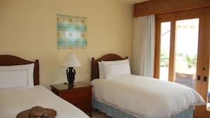 4 개의 침실, 객실 내 금고, 암막 커튼, 방음 설비