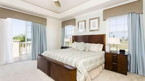 5 bedrooms, laptop workspace, iron/ironing board, linens