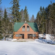 SKI ON & Off! Spruce Glen Cabin 1 on Great Eastern Trail W/sauna+fireplace