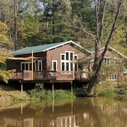 Waterfront Home Located On A Private 82 Acre Property With Extensive Trails!