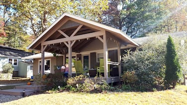 Recently renovated, new front porch and walk-able to the town of Black Mountain