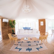 Luxury Glamping on 100+ Acres on the San Marcos River at Wahwahtaysee Resort