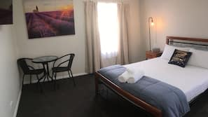 2 bedrooms, premium bedding, blackout curtains, iron/ironing board