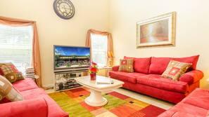 Flat-screen TV, computer