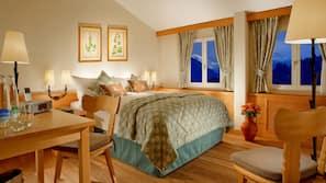 1 Schlafzimmer, italienische Bettbezüge von Frette, Zimmersafe